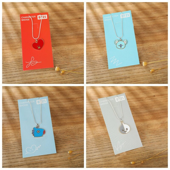 Foto Produk kalung BT21 BTS necklace import korea dari liqioustuff