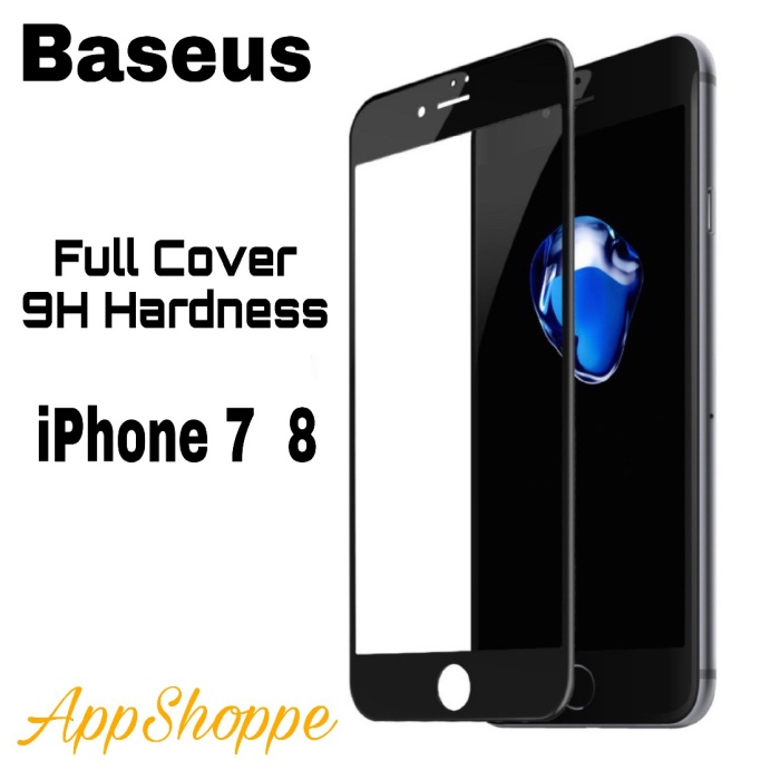 Foto Produk Baseus Tempered Glass SOFT EDGE Cover FULL SCREEN iPhone 7 8 dari AppShoppe