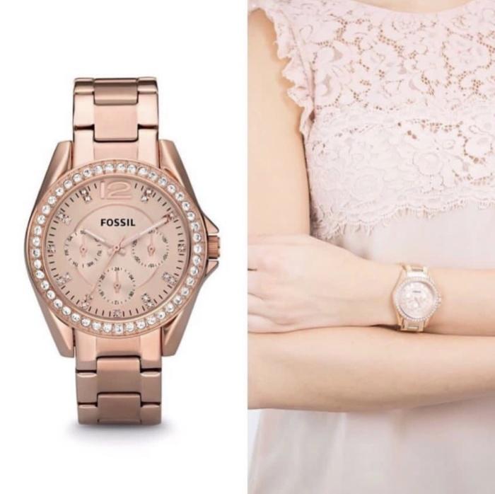 harga Jam tangan wanita merk fossil type es 2811 / es2811 original free yes Tokopedia.com