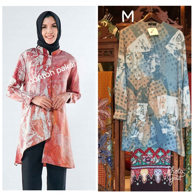 Jual Umaya Tunik Batik Abstrak By Dian Pelangi Original Kemeja Tunik Top Kota Pekalongan Dian Pelangi Original Tokopedia
