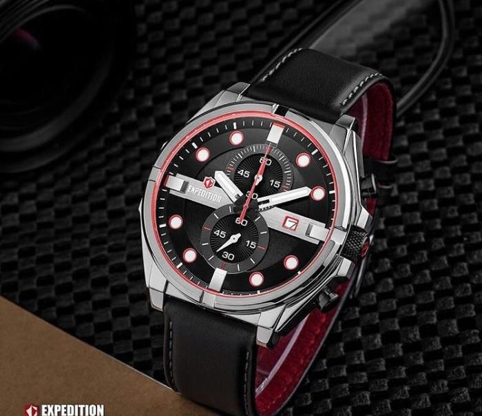 harga Jam tangan pria kulit expedition 6754 men silver original Tokopedia.com
