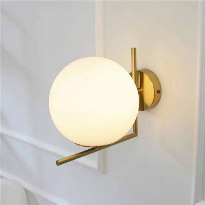 Bedroom Wall Sconce Modern Gl Ball