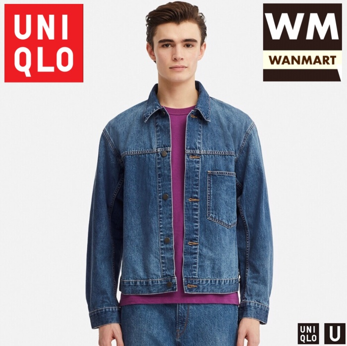 4e1a1b20d3 Jual UNIQLO U Jacket Men Jaket Pria Denim Blue - WAN-MART