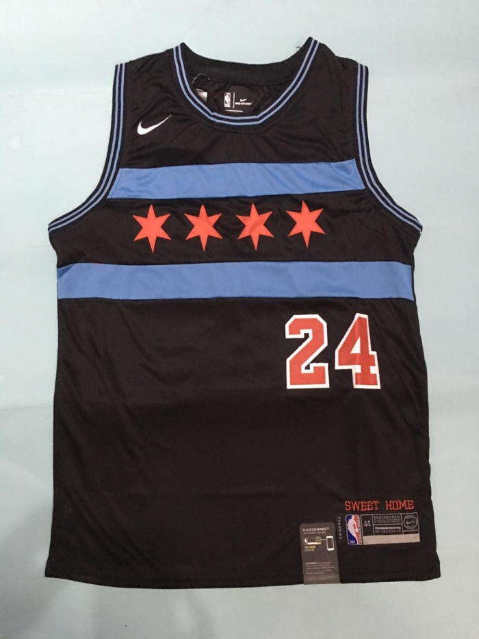 new style 959f0 48584 Jual Jersey Swingman NBA Lauri Markkanen Chicago Bulls (hitam) - Jersey  Basket ID   Tokopedia