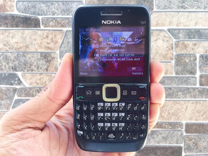 Jual Nokia E63 Black Normal Hp Jadul Bekas Klasik Kamera Handphone