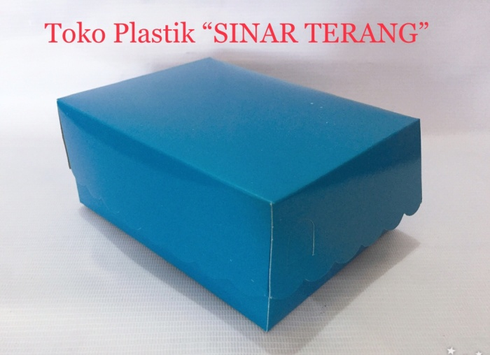 Jual Box Snack Dus Kue Kotak Kue Warna Biru Uk 12 X 16 Kota