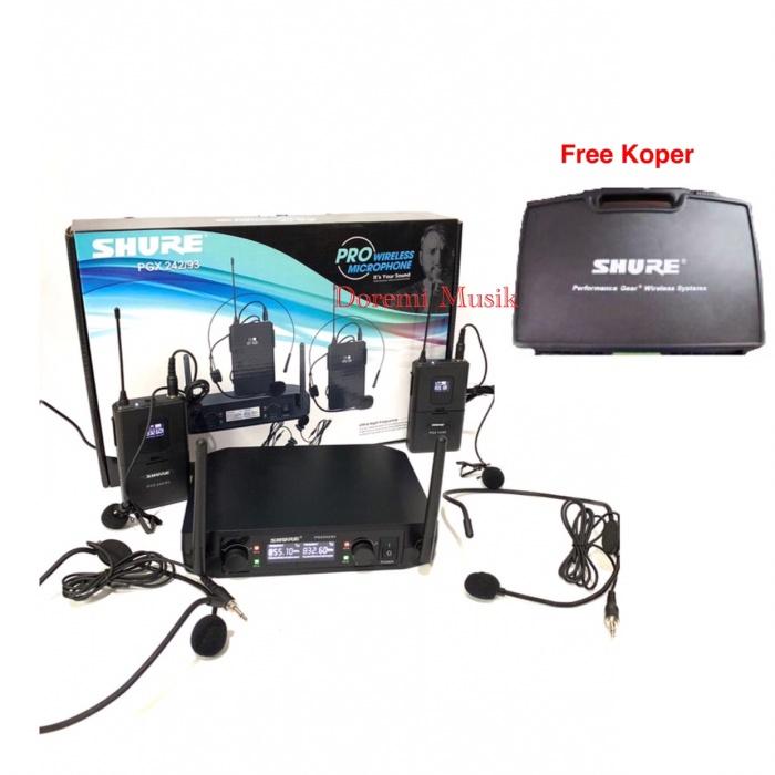 harga Mic wireless clip on shure pgx 242 / 93 (2 clip on ) Tokopedia.com