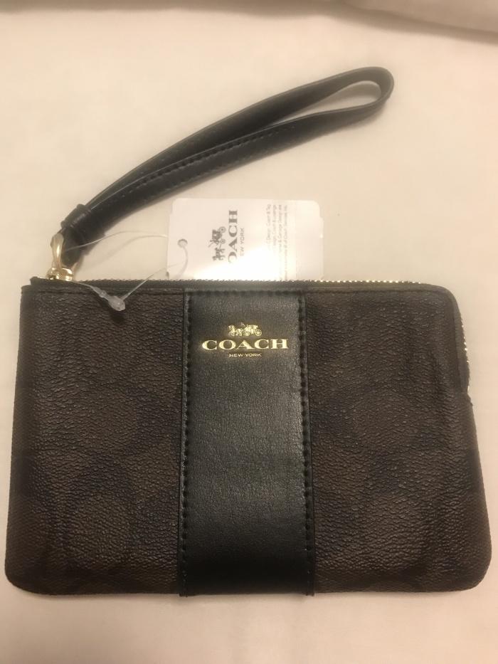 Single Zipper Wallet Ori Usa Bronze