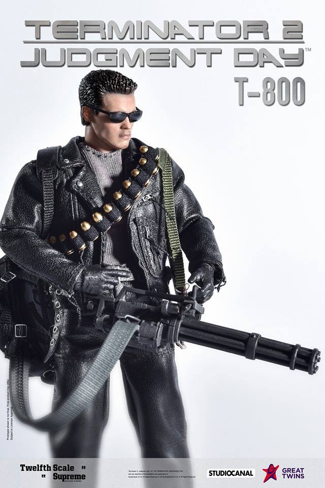 1:12 Scale Great Twins T-800 Terminator 2 Judgment Day Arnold Schwarzenegger