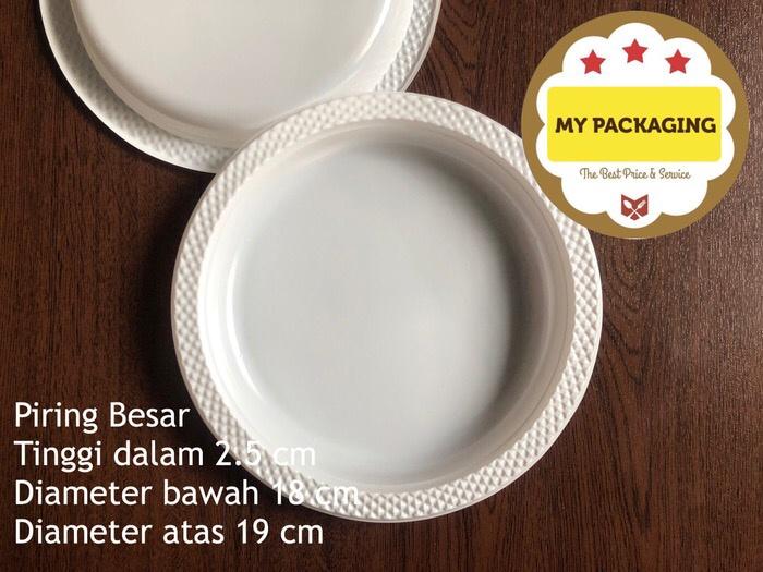 Foto Produk Piring Plastik Besar isi 10pcs/pack dari My Packaging