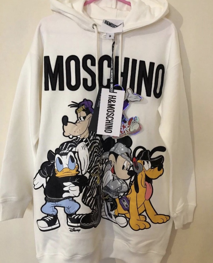 45aeb071c74 Jual Authentic Moschino x H M Disney Hoodie Dress Sweater Size S ...