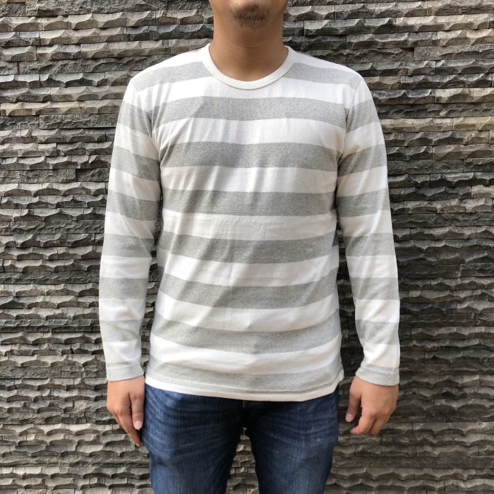 d630cae1 Jual Kaos Uniqlo Washed Striped Long Sleeve Tshirt - DKI Jakarta ...
