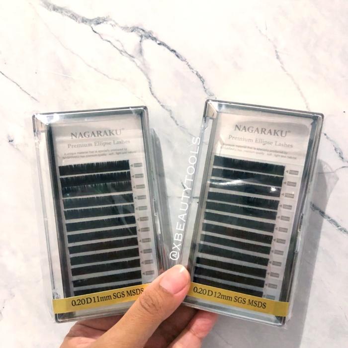 0a22299023e NAGARAKU Premium Mink Ellipse Super Soft Lembut Eyelash Extension