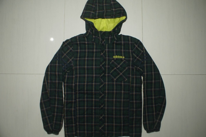 Jual ADIDAS NEO LABEL Green Flannel Zip Hoodie Jacket Kab. Mojokerto vandenim   Tokopedia