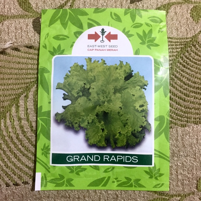 Benih Selada Grand Rapid Panah Merah 15 gram original packing