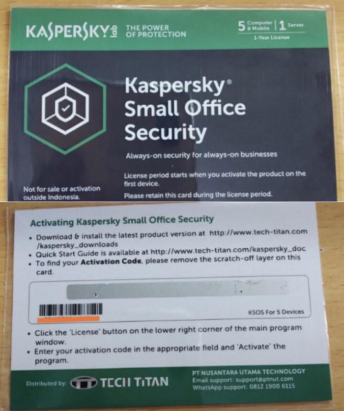 Jual Original Kaspersky Small Office Security Jakarta Pusat Softwareasli Jkt Tokopedia