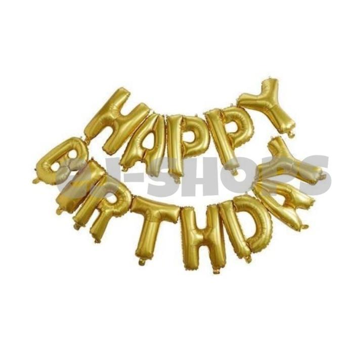 Foto Produk Balloon Foil Set Happy Birthday Aneka Warna dari ej-shops