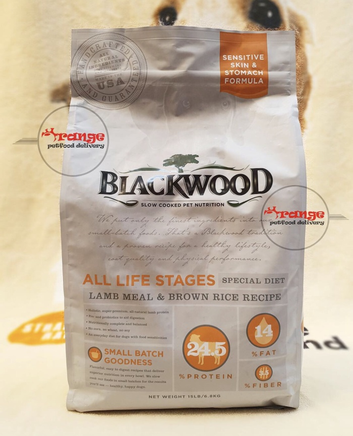 Foto Produk blackwood lamb meal and rice recipe all life stages dogfood 13,6 kg dari orange petfood delivery