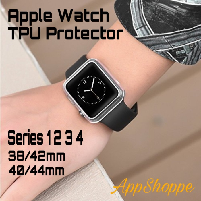 Foto Produk Apple Watch TPU Transparent Protective Soft Case Cover Series 1 2 3 4 dari AppShoppe