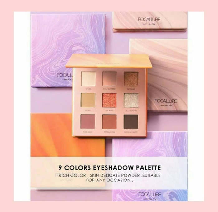 (bekasi) focallure 9 colour the life eyeshadow