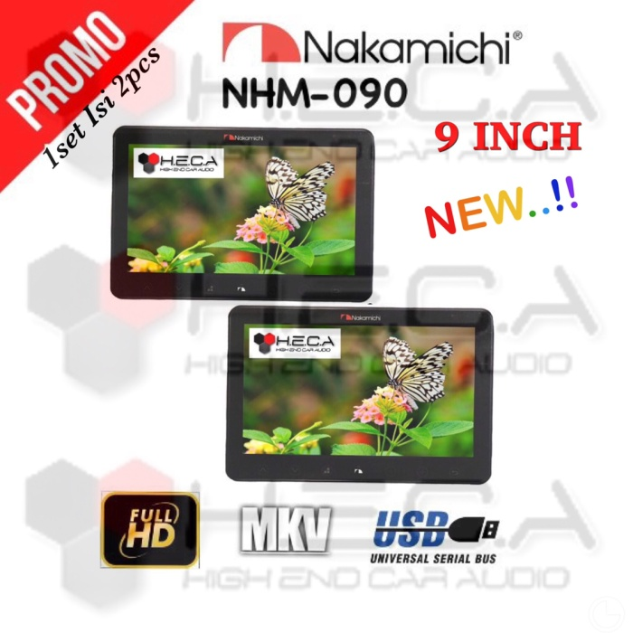 harga Nakamichi nhm-090 headrest clip on monitor usb clipon 9  nhm090 Tokopedia.com