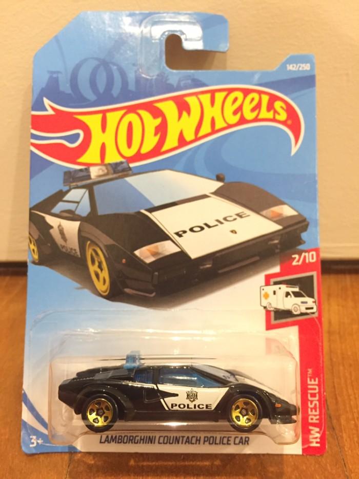 Jual Hotwheels 1 64 Lamborghini Countach Police Car Baru 2019