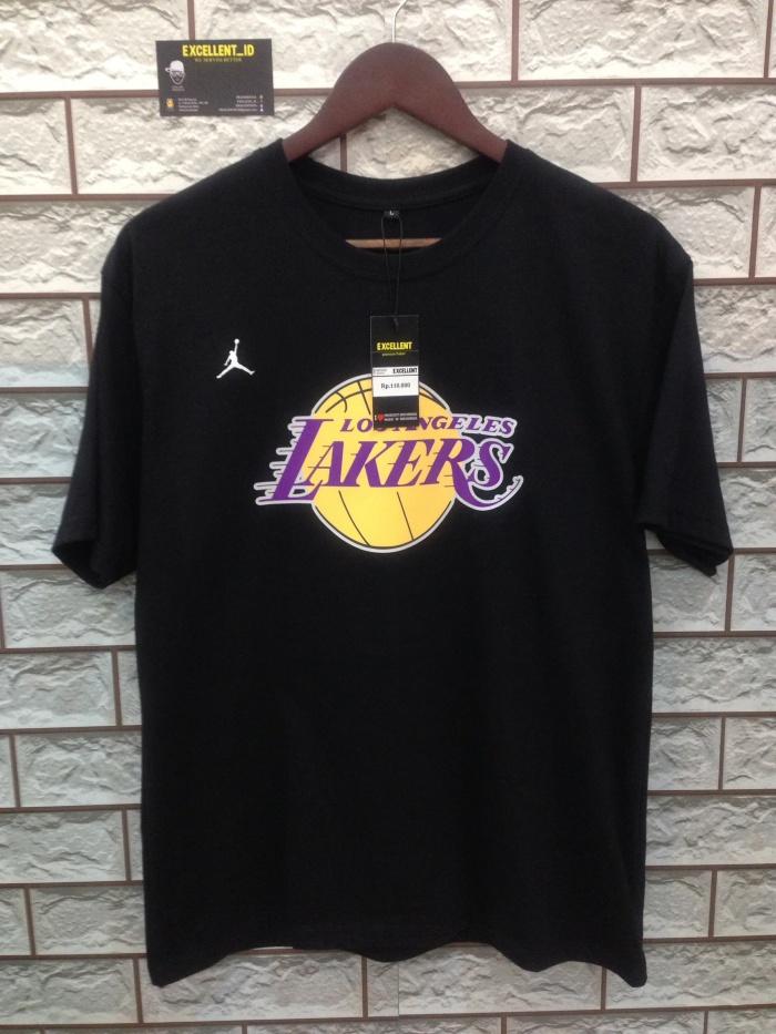 super popular c91fc bff3a Jual T-shirt/kaos.NBA Logo.LA LAKERS.LEBRON JAMES #23.Black - DKI Jakarta -  EXCELLENT_ID | Tokopedia