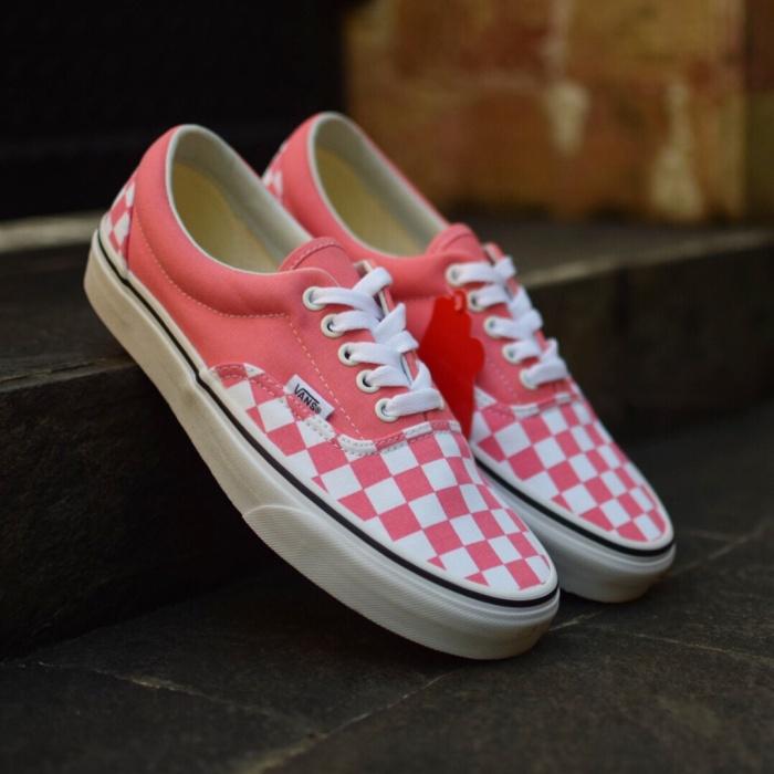 a908e89cbb Jual Vans Era (Checkerboard) Strawberry Pink/True White. - pink ...