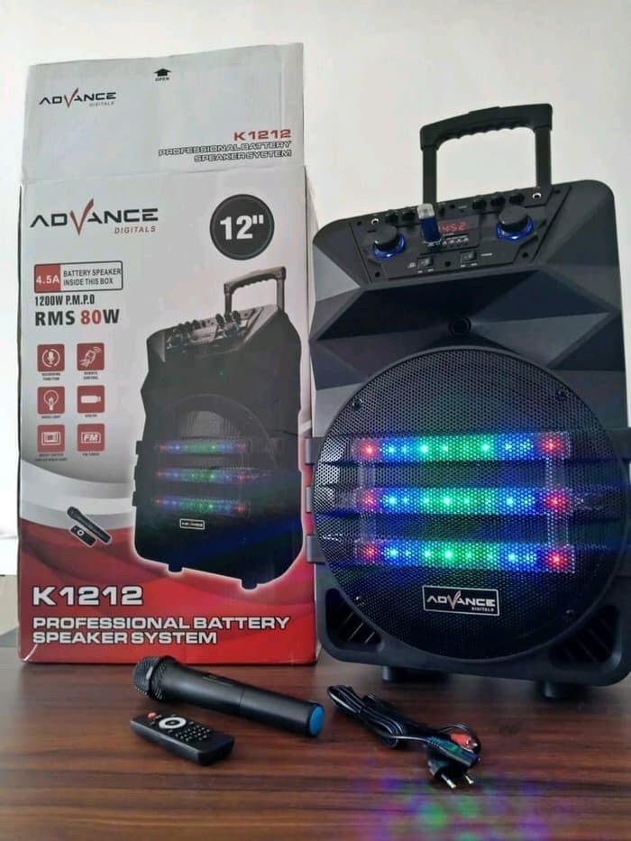 harga Speaker 12inch bluetooth advance k 1212 Tokopedia.com