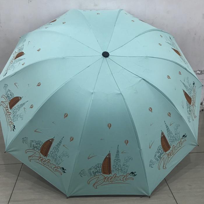 Payung lipat 3 motif negara tokyo/sydney/dubai/london bahan uv