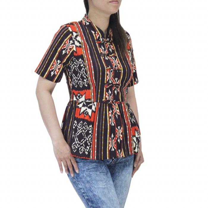 Jual Baju Batik Wanita Lengan Pendek Murah Terbaru Bahan Katun Strecth Jakarta Utara 35an Tokopedia