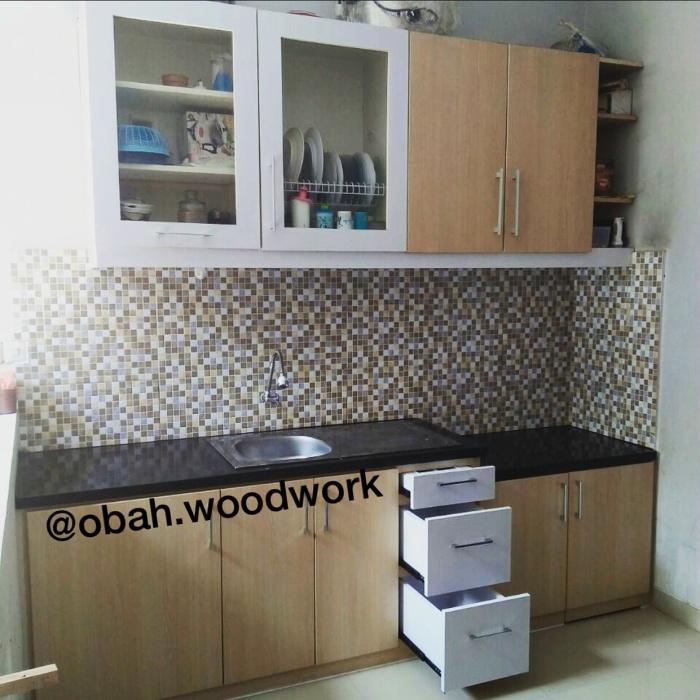 Jual Kitchen Set Minimalis Bahan Multipleks Dan Alumunium Yogyakarta Kab Sleman Obah Woodwork Tokopedia