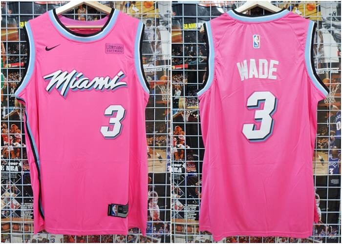 new products b125e 0e524 Jual Jersey Basket NBA Miami Heat Earned Edition Pink Dwyane Wade 2018 2019  - Kota Batam - RR7 Shop | Tokopedia