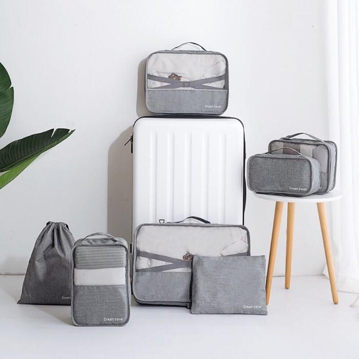 Foto Produk PANACHE Premium 7 pcs/Set Luggage Packing Travel Bag Organizer Tas dari PANACHE