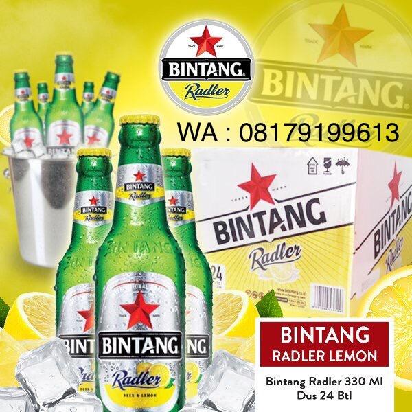 harga Bintang radler lemon bottle 330ml x 24 botol Tokopedia.com