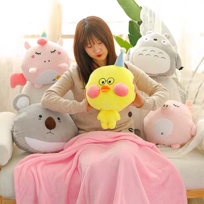 Foto Produk Boneka Bantal Selimut Duckling , Balmut Koala, Unicorn, Totoro And Pig dari CICAQGO