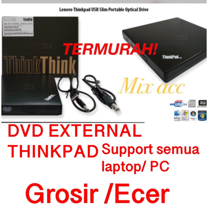 Foto Produk Lenovo Thinkpad USB Slim Optical Drive - DVD-RW external dari Mix acc88