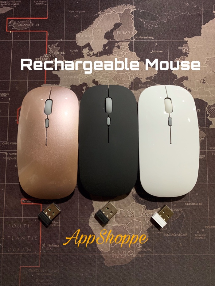 Foto Produk MOUSE WIRELESS USB 2.4GHz RECHARGEABLE with CHARGING CABLE dari AppShoppe