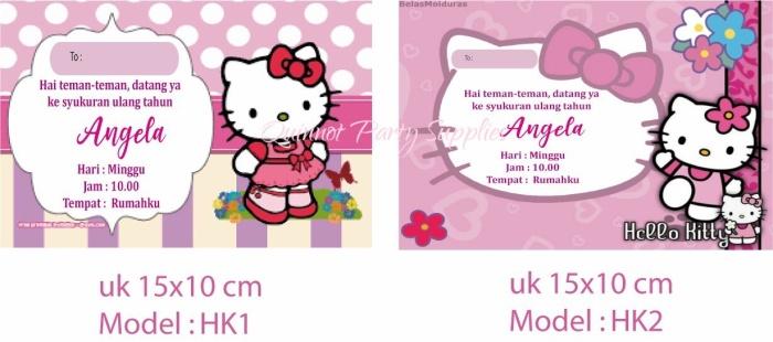 Jual Kartu Undangan Ulang Tahun Tema Hello Kitty Jakarta Timur Toko Sama Sama Untung Tokopedia