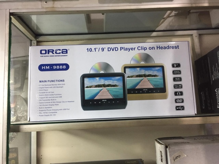 harga Headrest clip on orca monitor dvd games 9 inch orca hm-9888 Tokopedia.com