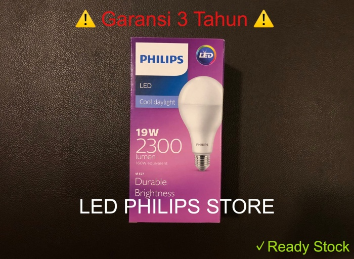 Foto Produk Lampu Bohlam LED Philips 19 Watt 19W 19Watt 19 W (Nyala Putih) dari LED Philips Store