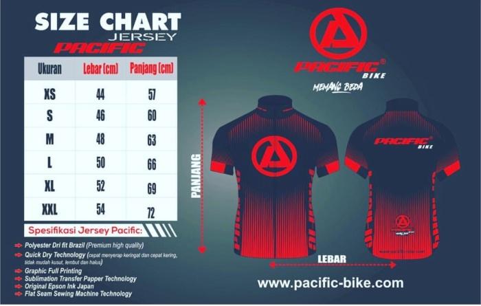 Jual Baju jersey buat sepeda pacific - Jakarta Barat