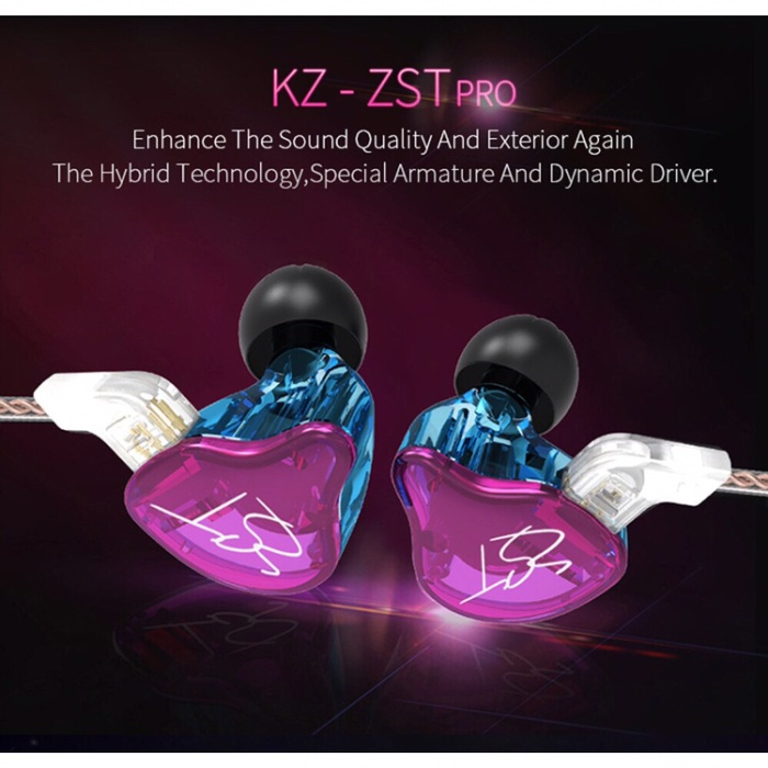 harga In ear monitor iem knowledge zenith kz zst candy Tokopedia.com