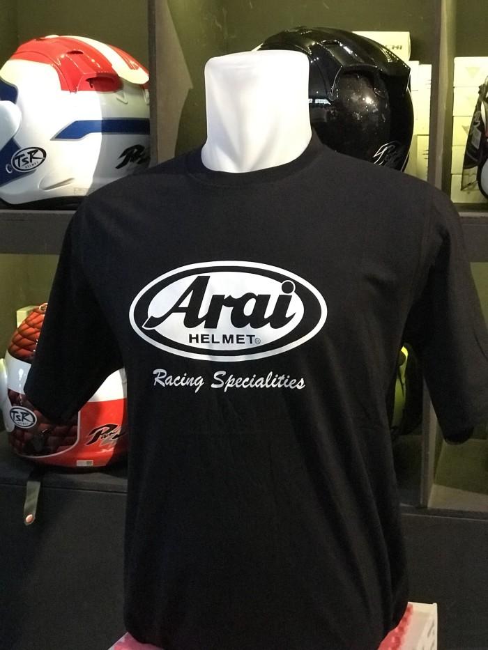 Foto Produk Tshirt Arai Racing Specialities import kaos Arai Helmets Racing dari BANDUNG APPARELS