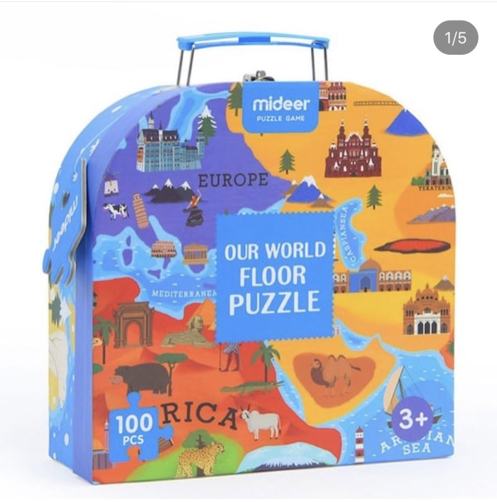 Foto Produk Mideer our world floor puzzle mainan edukasi anak dari Mybentoshop