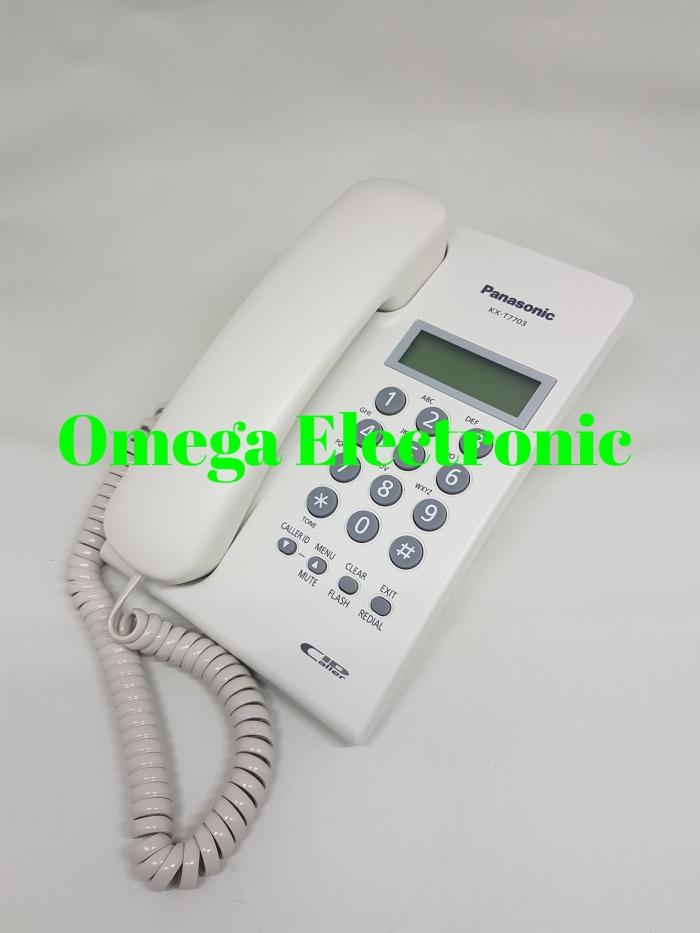 harga Panasonic kx-t7703 - telepon rumah kantor single line telpon 7703 Tokopedia.com