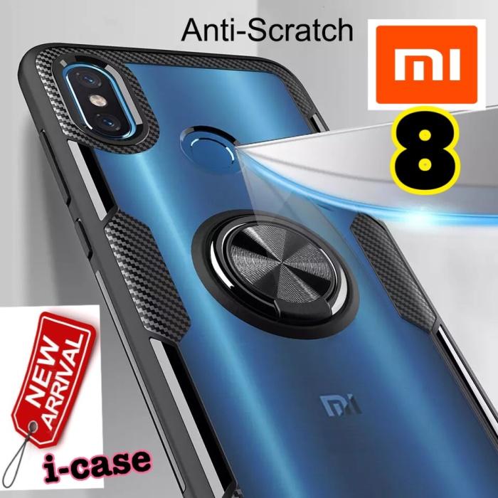 Foto Produk New i-case Xiaomi Mi 8 Mi8 Hybrid iring Stand Clear dari i-case