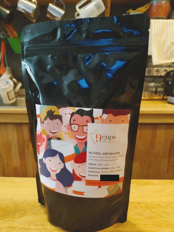 Foto Produk Coffee Beans / Biji Kopi Sunda Aromanis - 200 Grams dari 9Cups Coffee & Roastery