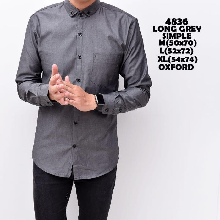 Foto Produk Kemeja polos pria lengan panjang baju cowok oxford slimfit dari Goodfella