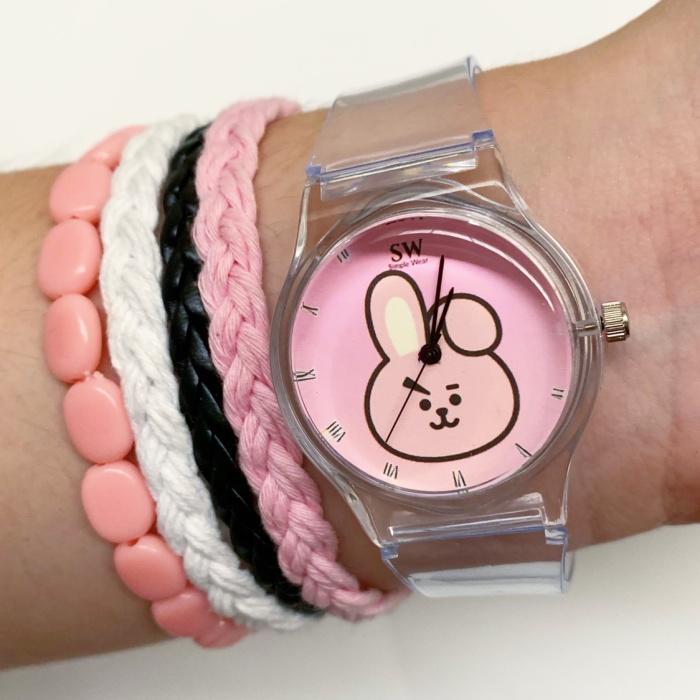 Foto Produk Jam Tangan BT21 Cooky + gelang dari rumahgelang